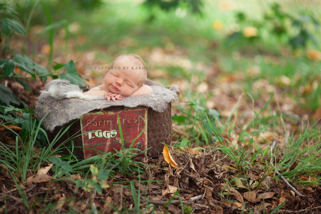 newborn photography outdoors