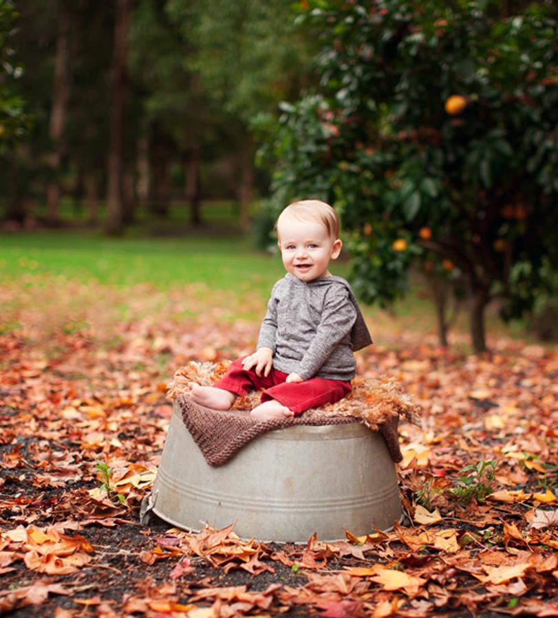 outdoor baby autumn photo